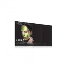 Трехкомпонентный комплекс масок УВЛАЖНЕНИЕ И СЕБОКОНТРОЛЬ Double Dare OMG! Platinum Green Facial Mask
