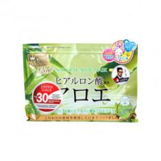 Курс натуральных масок для лица с экстрактом Алоэ Japan Gals 30 шт