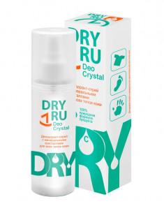 DRY RU Дезодорант-спрей с минеральными кристаллами для всех типов кожи / Deo Cristal 40 г