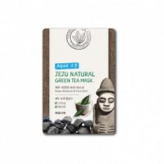 Маска для лица успокаивающая Welcos Jeju Nature's Green Tea Mask 20мл