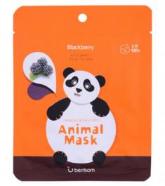 Маска тканевая экстрактом ежевики Berrisom Animal mask series Panda 25мл