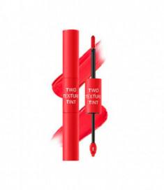 Тинт для губ двойной THE SAEM Two Texture Tint CR01 Harmony Coral 8гр