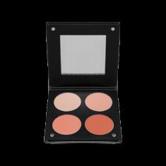 Палетка румян с зеркалом, 4 оттенка Make-Up Atelier Paris BL3DS лосось 96г