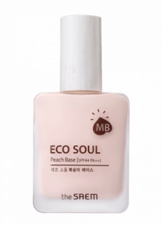 База под макияж THE SAEM Eco Soul Peach Base 30 мл