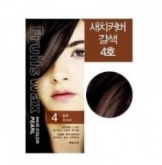 Краска для волос на фруктовой основе Welcos Fruits Wax Pearl Hair Color #04 60мл*60г