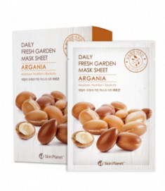 Маска для лица тканевая аргана Mijin Skin Planet daily fresh garden mask sheet ARGANIA 25гр