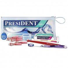 Президент Брекет-набор: зубая щетка ортодонтическая, щетка малопучковая, фитофлосс, ершики межзубные, воск в полосках President