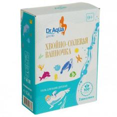 Dr.Aqua соль для ванн детская Хвойно-солевая ванночка кедр пихта сосна 150г N3 фильтр-пакет