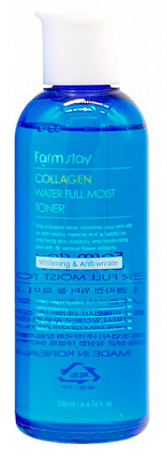 FARMSTAY Тонер увлажняющий с коллагеном / Collagen moistfull 200 мл