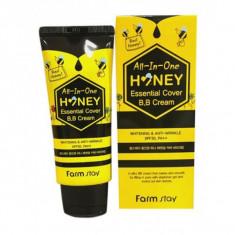 вв крем с экстрактом меда spf30/pa++ farmstay all-in-one honey essential cover b.b cream spf30/pa++
