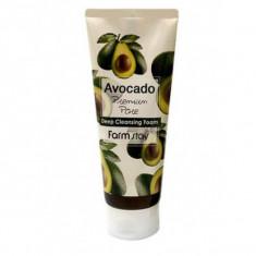 очищающая пенка с экстрактом авокадо farmstay avocado deep cleansing foam