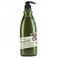 шампунь-кондиционер с aргановым маслом farmstay argan oil complete volume up shampoo & conditioner