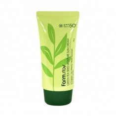 защитный увлажняющий крем с семенами зеленого чая farmstay green tea seed moisture sun cream
