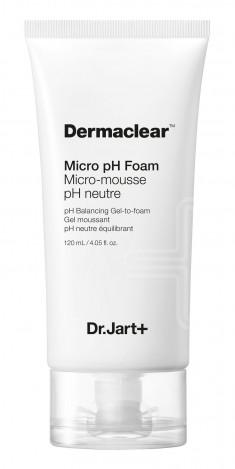 DR. JART+ Гель-пенка глубокого очищения для умывания ph 5.5 / Dermaclear 120 мл