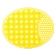 IRISK PROFESSIONAL Терка-скраб для лица/тела овальная, силиконовая, 05 желтая