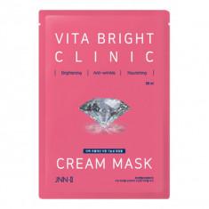 маска тканевая для яркости кожи jungnani jnn-ii vita bright clinic cream mask