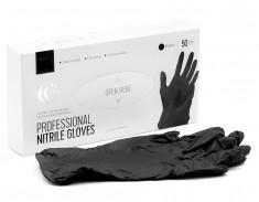 LUCAS' COSMETICS Перчатки нитриловые черные S 50 шт