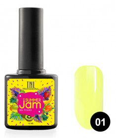 TNL PROFESSIONAL 01 гель-лак для ногтей, светло-желтый / Summer Jam 10 мл