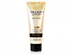 Маска-плёнка золотая с коллагеном 3W CLINIC Collagen & Luxury Gold Peel Off Pack