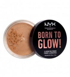 NYX PROFESSIONAL MAKEUP Невесомая пудра-хайлайтер для лица и тела Born To Glow Illuminating Powder - Warm Strobe
