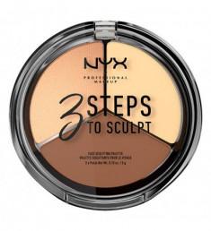 NYX PROFESSIONAL MAKEUP Палетка для скульптурирования 3 Steps To Sculpt Face Sculpting Palette - Light 02