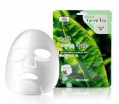 Тканевая маска для лица ЗЕЛЕНЫЙ ЧАЙ 3W CLINIC Fresh Green tea Mask Sheet 23мл