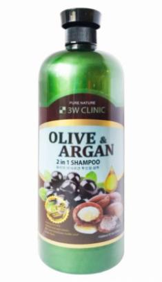Шампунь для волос АРГАНОВОЕ МАСЛО И ОЛИВА 3W CLINIC Olive&Argan 2in1 Shampoo 1500мл
