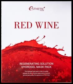 Маска для лица гидрогелевая с экстрактом красного вина ESTHETIC HOUSE RED WINE REGENERATING SOLUTION HYDROGEL MASK PACK 28мл*5шт