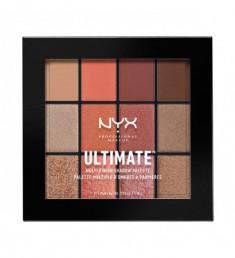 NYX PROFESSIONAL MAKEUP Палетка теней Ultimate Multi-finish Shadow Palette - Warm Rust 08