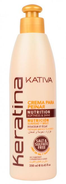 KATIVA Крем укрепляющий с кератином для укладки, для всех типов волос / KERATINA 250 мл
