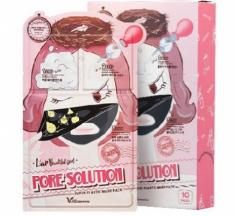 Маска трехступенчатая для проблемной кожи ELIZAVECCA Pore Solution Super Elastic Mask Pack 10шт
