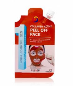 Маска-пленка очищающая Eyenlip POCKET COLLAGEN ACTIVE PEEL OFF PACK 25г