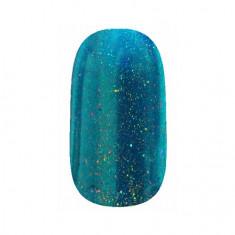 ruNail, Зеркальная пыль для втирки с шиммером, сине-голубая