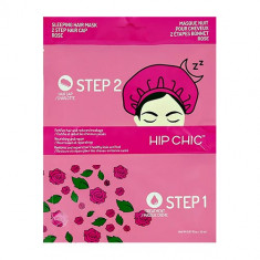 2-Ступенчатая система ухода за волосами HIP CHIC ночная с экстрактом розы сыворотка, шапочка 20 мл + 1 шт