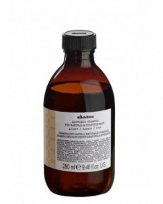 Шампунь АЛХИМИК для натуральных и окрашенных волос золото Davines ALCHEMIC SHAMPOO for natural and coloured hair 280мл