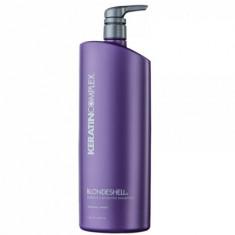 Шампунь корректирующий для осветленных и седых волос Keratin Complex Blondeshell Debrass & Brighten Shampoo 946мл