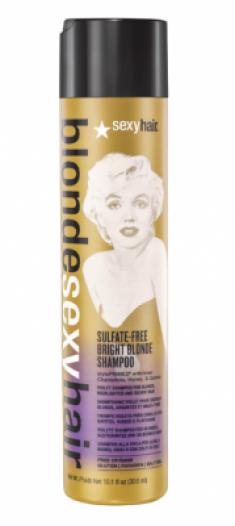 Шампунь корректирующий сияющий Блонд SEXY HAIR Bright Blonde Shampoo 300мл