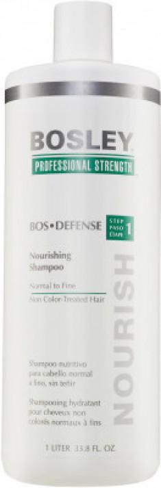 Шампунь питательный для нормальных/тонких неокрашенных волос Bosley Воs Defense Step 1 Nourishing Shampoo Normal To Fine Non Color-Treated Hair 1000мл