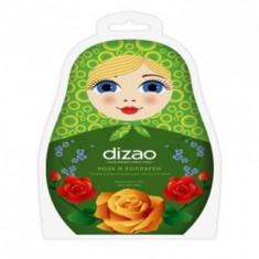 """Пузырьковая очищающая маска для лица DIZAO """"Роза и Коллаген"""""""