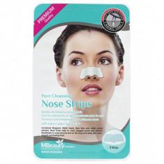 маски-полоски для очищения пор в области носа mbeauty pore cleansing nose strips