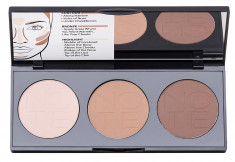 NOTE COSMETICS Палетка пудровая для контурирования лица 02 / PERFECTING CONTOURING POWDER PALETTE 3*5 г
