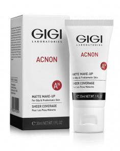 GIGI Крем-тон матирующий для лица / ACNON Matte makeup 30 мл