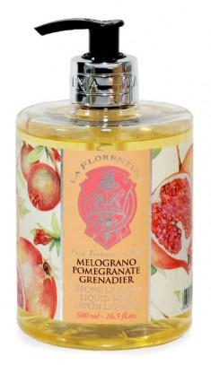 LA FLORENTINA Мыло натуральное жидкое, гранат / Pomegranate 500 мл