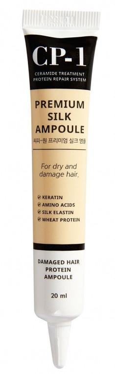 ESTHETIC HOUSE Сыворотка несмываемая с протеинами шелка для волос / CP-1 Premium Silk Ampoule 20 мл
