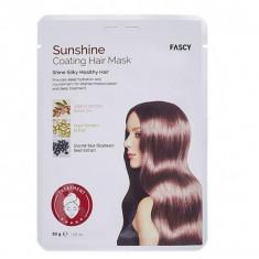 восстанавливающая маска-шапочка для волос с аргановым маслом fascy sunshine coating hair mask