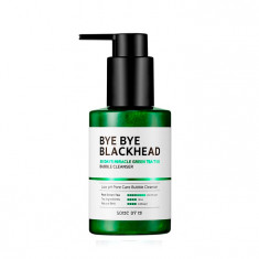 пенка-маска от черных точек some by mi bye bye blackhead 30 days miracle green tea tox bubble cleanser