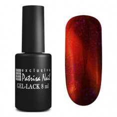 PatrisaNail,Гель-лак «Кошачий глаз» Royal Red Pulse Patrisa nail