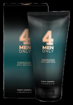 INSPIRA COSMETICS Гель очищающий тонизирующий для волос и тела / 4 Men Only 150 мл