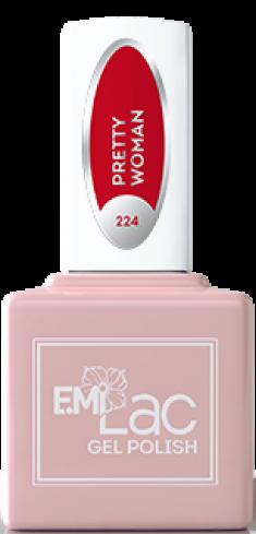 E.MI 224 RM гель-лак для ногтей, Красотка / E.MiLac Red Manifest 9 мл