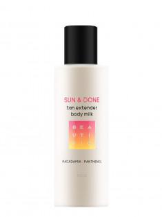 BEAUTIFIC Молочко-пролонгатор загара увлажняющее с эритрулозой и босвелией / Sun & Done 150 мл